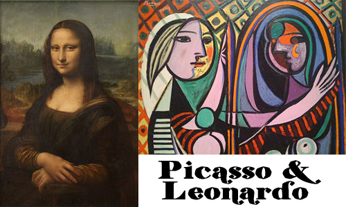 a comparison of works between pablo picasso and leonardo da vinci