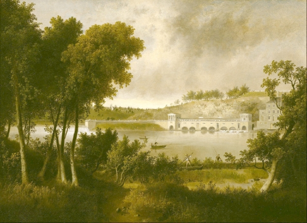 View of the Fairmount Waterworks